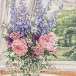 """""""Peonies and Delphiniums,"""" Shirley Pfizenmaier"""
