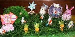 An Easter display created by a manor resident.