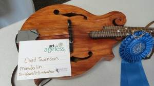 "Sculpture/3-D (amateur): Lloyd Swenson, ""Mandolin"""