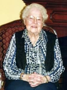 Alma Decker, 102 , still embroiders intricate tea towels.