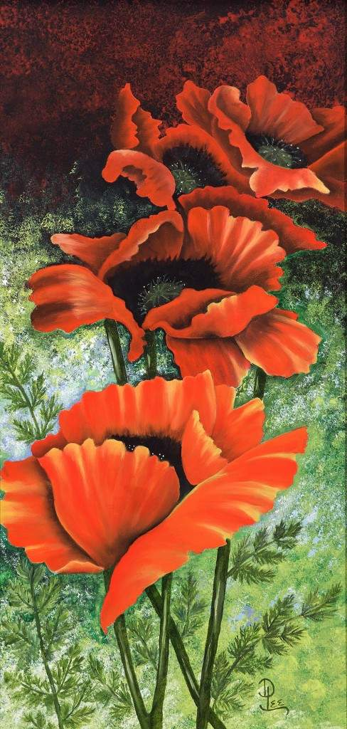 """Pretty Poppies"" by Dixie Lee Haddock"