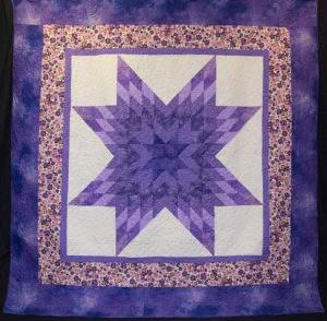 """Evening Star,"" quilt by Clay Center resident Verna Lee Musselman."