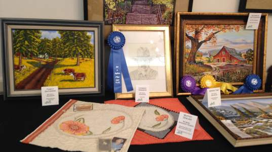 Artwork featured at the 2017 Art is Ageless exhibit at Lawrence Presbyterian Manor.