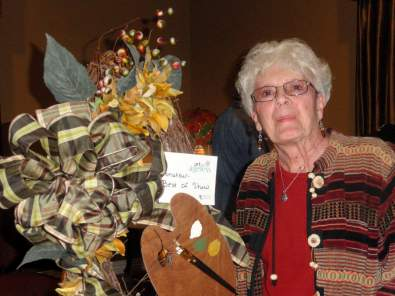 """""""Painter Delight Wreath"""" by Mutz Maples was Best in Show in the amateur category."""