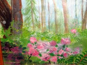 """Springtime Landscape"" by Phyllis Hutchinson was first place in the amateur painting category."