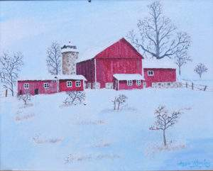 Painting_Red_Barn_In_The_Snow_cropped