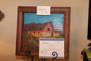 "Sculpture 3D (amateur) – 1st Place: William Herman, ""Hodgeman County Barn"""