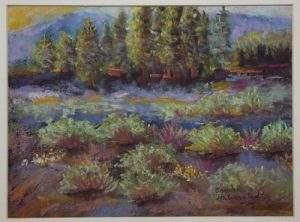 "Professional Painting – Sandra Halverstadt, ""Silver Sage in Empire Gulch, Leadville, CO"""