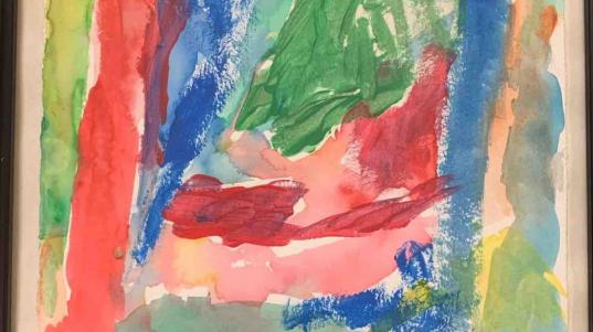 """""""Watercolor Dreams"""" by Kenny Carlson, Clay Center Presbyterian Manor"""
