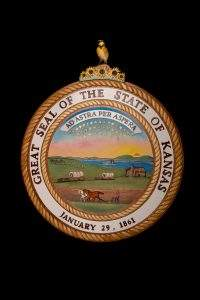 Kansas State Seal by Wayne VanSickle