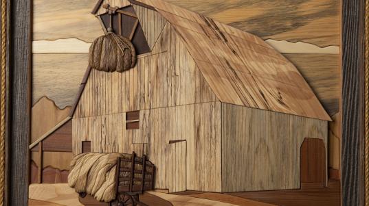 """The Hay Barn"" by Stan Lauer, Salina Presbyterian Manor"