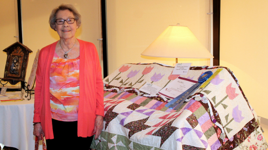 Charlene's quilt entry took first place in the 2017 Art is Ageless competition.