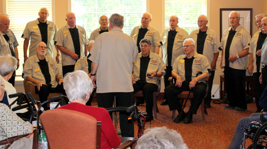 The Gentlemen of Sound came to perform for the residents. The show included a barbershop quartet and a sing-a-long.