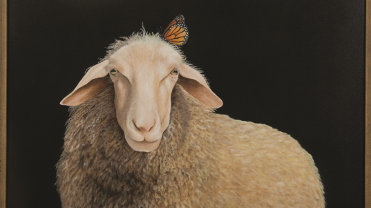 """""""Beauty and the Fleece,"""" a painting by Vada Galvan"""