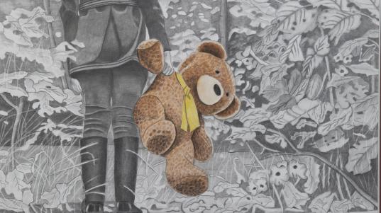 Just Me and Teddy in a Strange World, Carol Rondinelli, Aberdeen Village