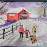 """JoeAnn Burris, """"Fun in Snow"""""""