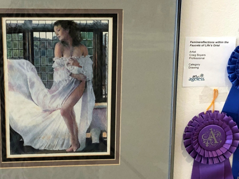 """Best of Show professional: Craig Boyers, """"Feminine Reflections within the Facets of Life's Oriel"""""""